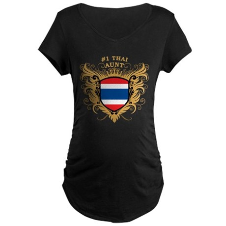 Number One Thai Aunt Maternity Dark T-Shirt
