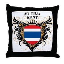 Number One Thai Aunt Throw Pillow