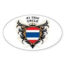 Number One Thai Uncle Oval Decal