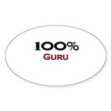 100 Percent Guru Oval Decal