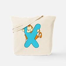 Zoo Alphabet X - Monkey Tote Bag