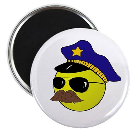 Cop Smiley Magnet