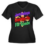 Jambalaya, Crawfish Pie, File Women's Plus Size V-