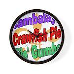 Jambalaya, Crawfish Pie, File Wall Clock