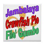 Jambalaya, Crawfish Pie, File Tile Coaster