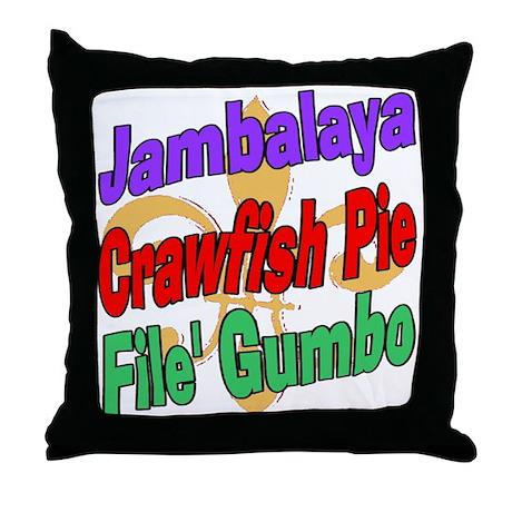 Jambalaya, Crawfish Pie, File Throw Pillow
