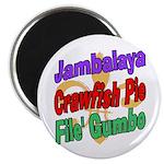 Jambalaya, Crawfish Pie, File Magnet