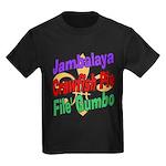 Jambalaya, Crawfish Pie, File Kids Dark T-Shirt