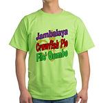 Jambalaya, Crawfish Pie, File Green T-Shirt