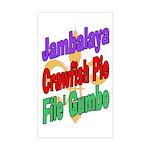 Jambalaya, Crawfish Pie, File Rectangle Sticker