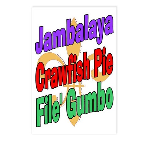 Jambalaya, Crawfish Pie, File Postcards (Package o