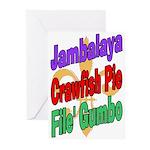 Jambalaya, Crawfish Pie, File Greeting Cards (Pk o
