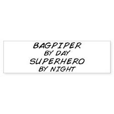 Bagpiper Superhero Bumper Bumper Sticker