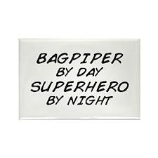 Bagpiper Superhero Rectangle Magnet