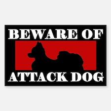 Beware of Attack Dog Papillon Decal