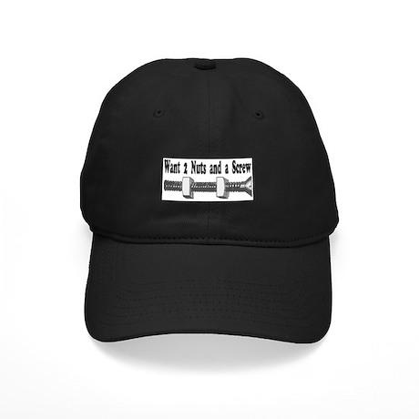 Want 2 Nuts & A Screw Black Cap
