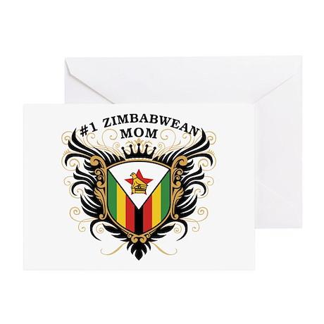 Number One Zimbabwean Mom Greeting Card