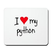 I LOVE MY Python Mousepad