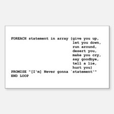 Rick Roll Rectangle Decal