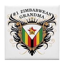 Number One Zimbabwean Grandma Tile Coaster