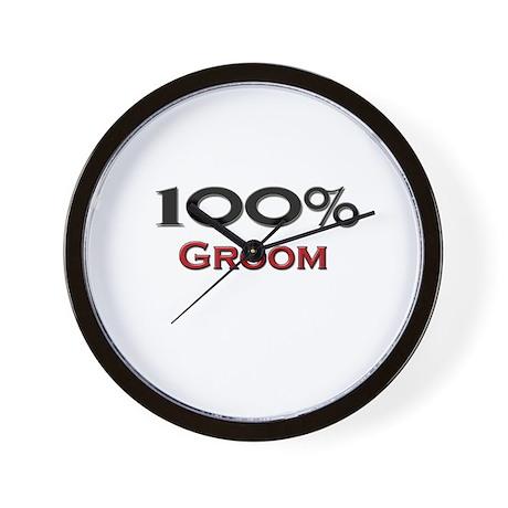 100 Percent Groom Wall Clock