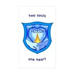 2 Souls 1 Heart Rectangle Sticker 50 pk)