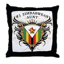 Number One Zimbabwean Aunt Throw Pillow