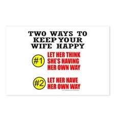 KEEP YOUR WIFE HAPPY Postcards (Package of 8)