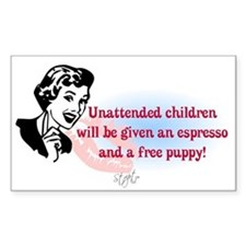 Sarcastic Children Quote Rectangle Decal