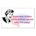 Sarcastic Children Quote Rectangle Sticker