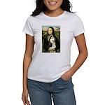Mona Lisa & Siberian Husky Women's T-Shirt