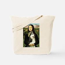 Mona Lisa & Siberian Husky Tote Bag