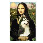 Mona Lisa & Siberian Husky Postcards (Package of 8