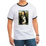 Mona Lisa & Siberian Husky Ringer T