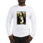 Mona Lisa & Siberian Husky Long Sleeve T-Shirt