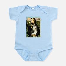 Mona Lisa & Siberian Husky Infant Bodysuit