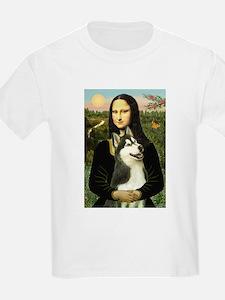 Mona Lisa & Siberian Husky T-Shirt