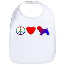 Peace Love Norfolk Terrier Bib