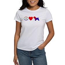 Peace Love Norfolk Terrier Tee