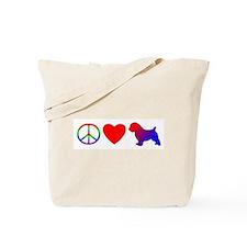 Peace Love Norfolk Terrier Tote Bag