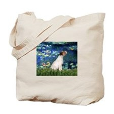 Jack Russell & Lilies Tote Bag