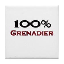 100 Percent Grenadier Tile Coaster