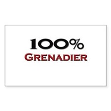 100 Percent Grenadier Rectangle Decal