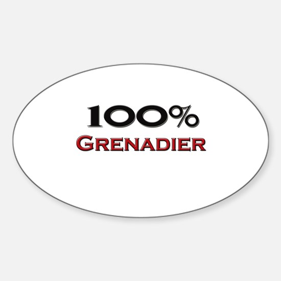 100 Percent Grenadier Oval Decal