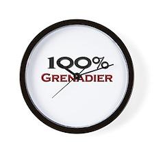 100 Percent Grenadier Wall Clock