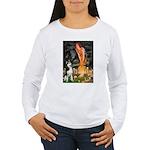Mid.Eve / Siberian Husky Women's Long Sleeve T-Shi