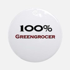 100 Percent Greengrocer Ornament (Round)