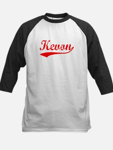 Vintage Kevon (Red) Kids Baseball Jersey