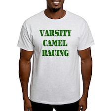 Varsity Camel Racing Ash Grey T-Shirt