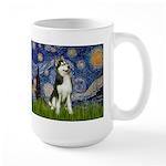 Starry Night & Husky Large Mug